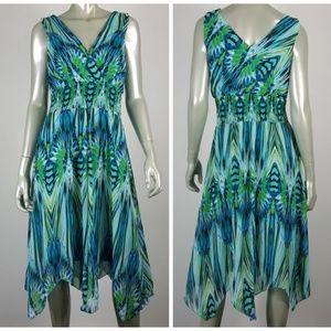 Dressbarn Empire Waist Hanky Hem Dress Size 12